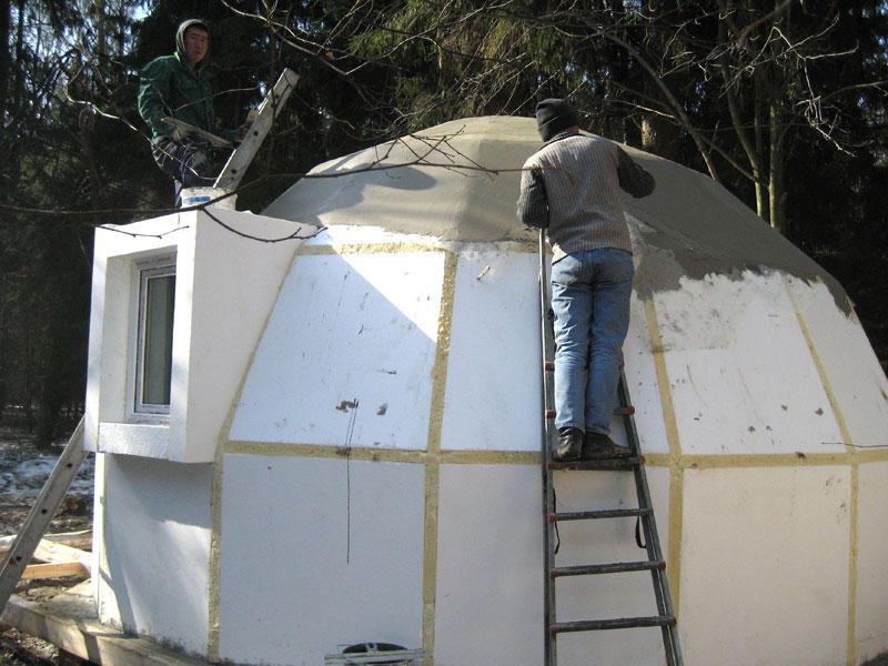 Как построить дом своими руками из пенопласта
